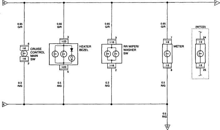 Acura Slx (1998 1999) Wiring Diagrams Interior Lighting - Wiring Diagram