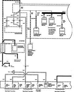 Acura SLX - wiring diagram - power mirrors
