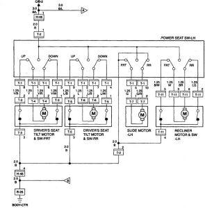 Acura SLX - wiring diagram - power seats (part 1)