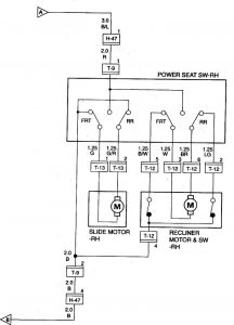 Acura SLX - wiring diagram - power seats (part 2)