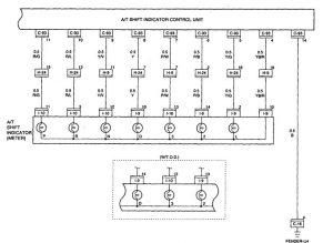 Acura SLX - wiring diagram - shift indicator (part 2)