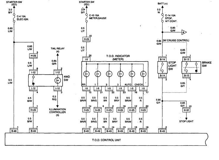 Acura SLX 1998 1999 wiring diagrams transfer case