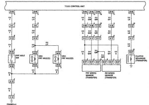 Acura SLX - wiring diagram - transfer case control (part 2)