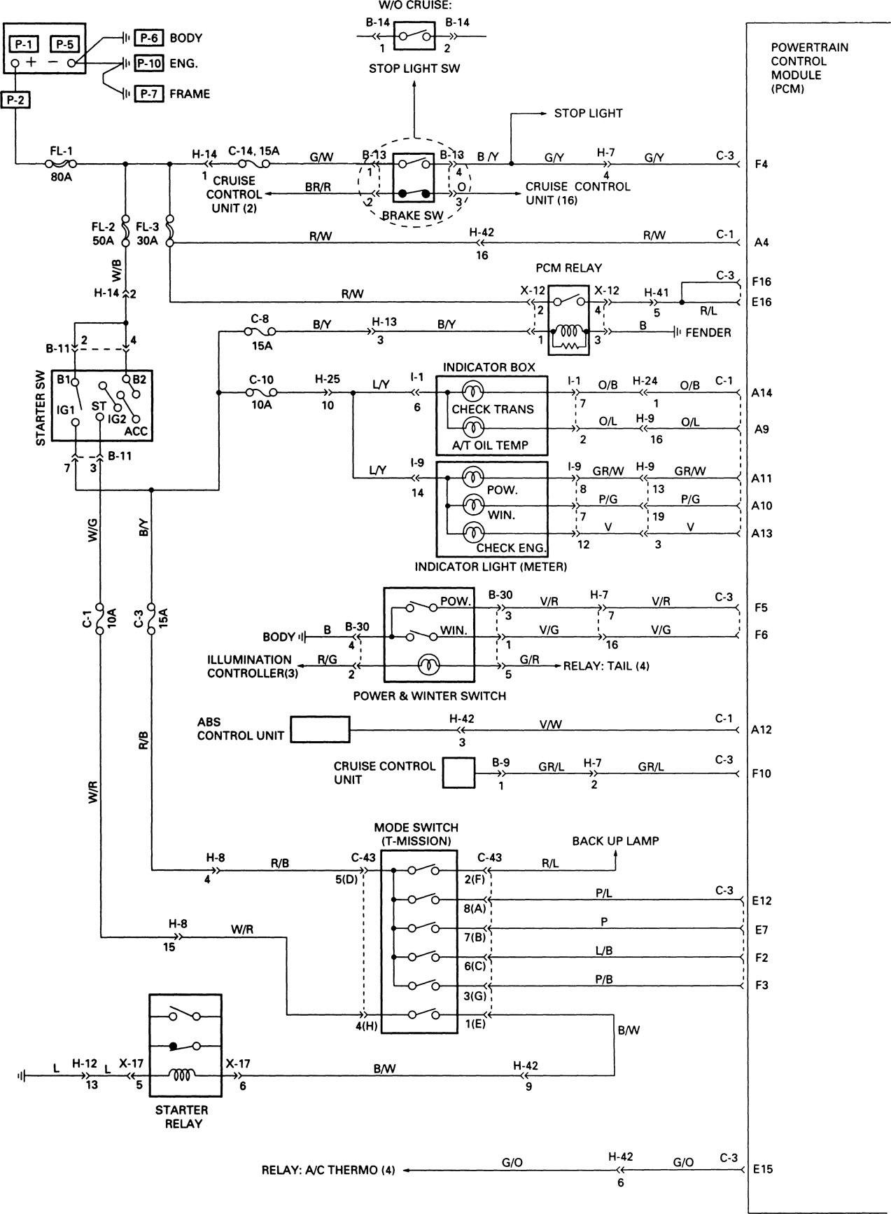 Acura SLX (1998 - 1999) - wiring diagrams - transmission controls -  Carknowledge.info | 1998 Acura Slx Wiring Diagram |  | Carknowledge.info