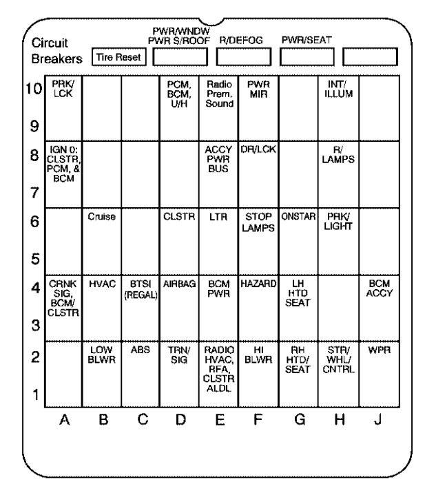 Buick Century  2004  U2013 2005   U2013 Fuse Box Diagram