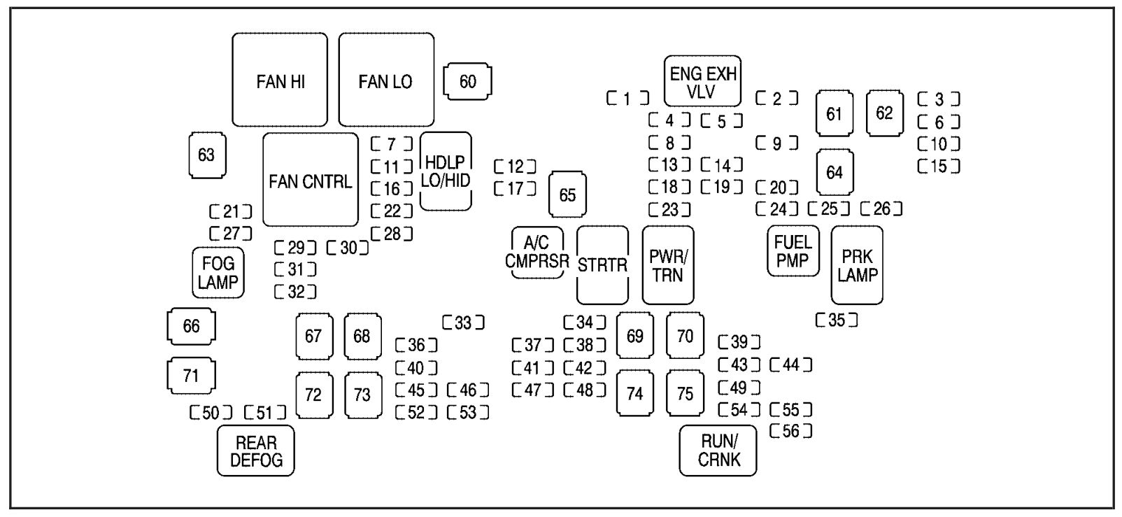 chevrolet avalanche  2009   u2013 fuse box diagram
