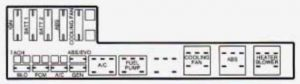 Chevrolet Cavalier - wiring diagram - fuse box - engine compartment