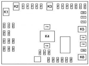 Chevrolet Express - wiring diagram - fuse box - floor console fuse block