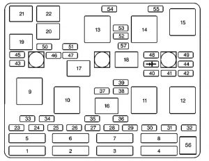 Chevrole Malibu -  wiring diagram - fuse box diagram - engine compartment