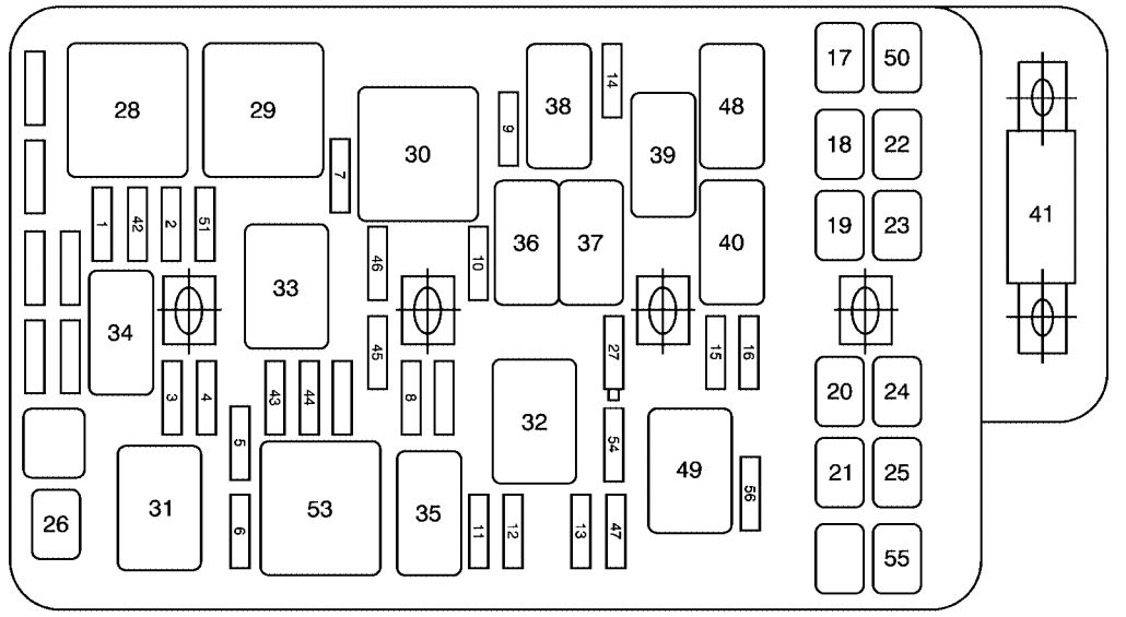 Chevrolet Malibu  2010   U2013 Fuse Box Diagram