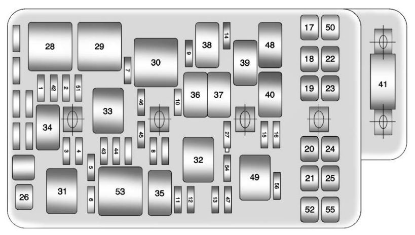 chevrolet malibu 2011 2012 fuse box diagram carknowledge rh carknowledge info 2012 malibu fuse box diagram 2010 malibu fuse box diagram