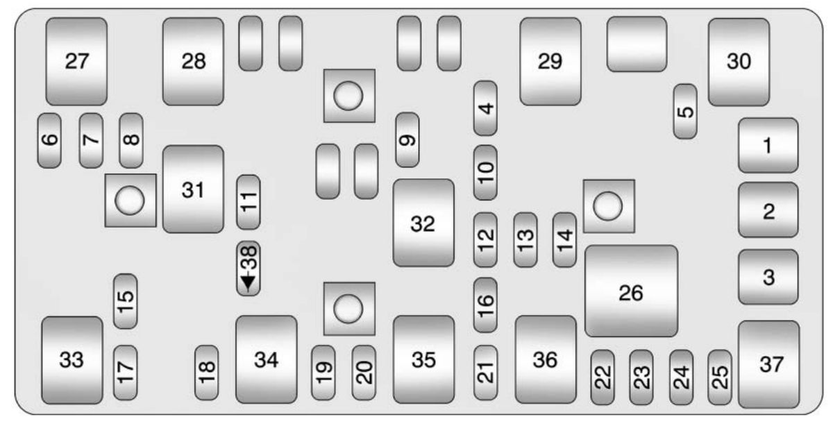 Chevrolet Malibu  2011  U2013 2012   U2013 Fuse Box Diagram