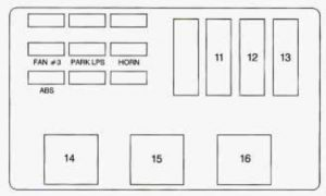 Chevrolet Monte Carlo - wiring diagram - fuse box - underhood electrical center driver side