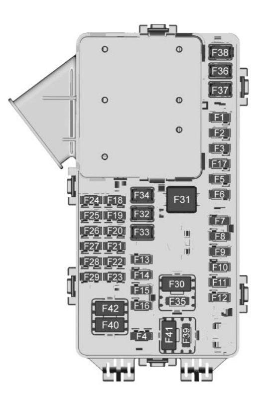 Chevrolet Traverse  2018   U2013 Fuse Box Diagram