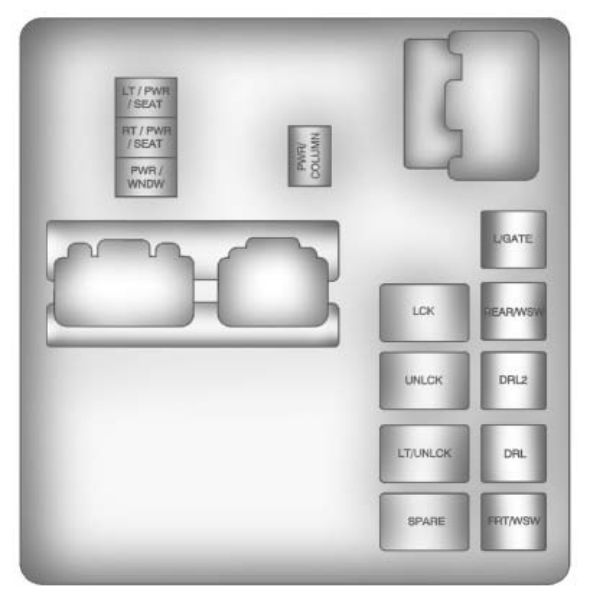 Chevrolet Traverse  2012   U2013 Fuse Box Diagram