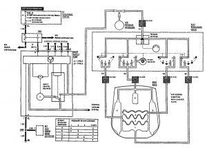 Mercedes 190E - wiring diagram - power lumbar