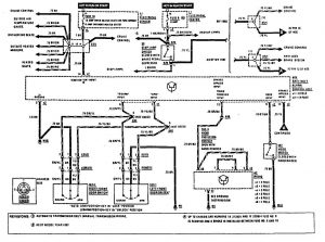 Mercedes Benz 190E - wiring diagram - security/anti-theft (part 2)