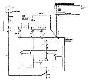 Mercedes Benz 190E - wiring diagram - sun roof