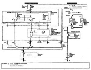 Mercedes-Benz 190E -  wiring diagram - wiper/washer