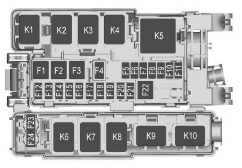 Buick Envision  2018   U2013 Fuse Box Diagram