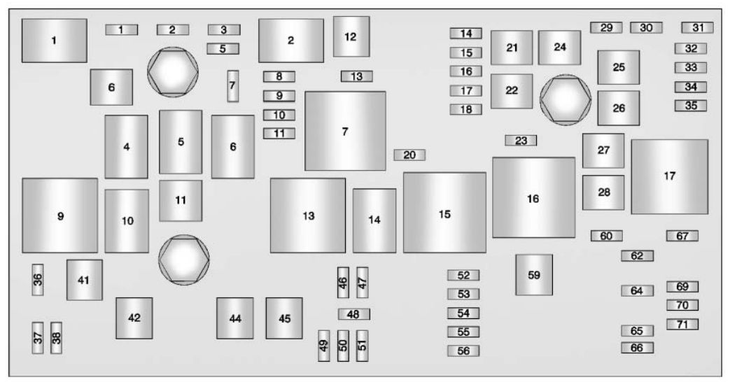 Buick Lacrosse  2013  U2013 2015   U2013 Fuse Box Diagram