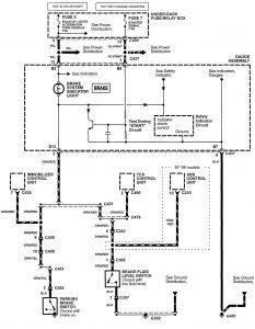 Acura NSX - wiring diagram - brake warning system