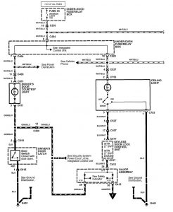 Acura NSX - wiring diagram - courtesy lamp (part 1)