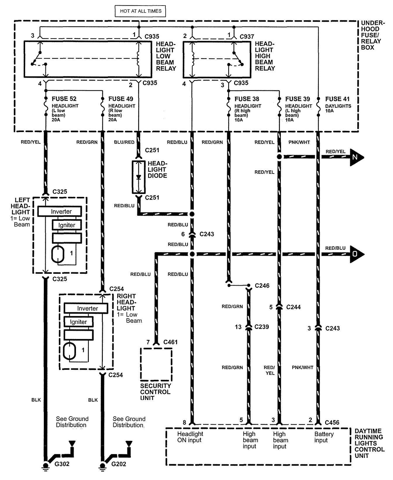 Wiring Diagram For Daytime Running Lights 5 Repliessc1st Acura Nsx 2005 U2013 Diagrams Ls