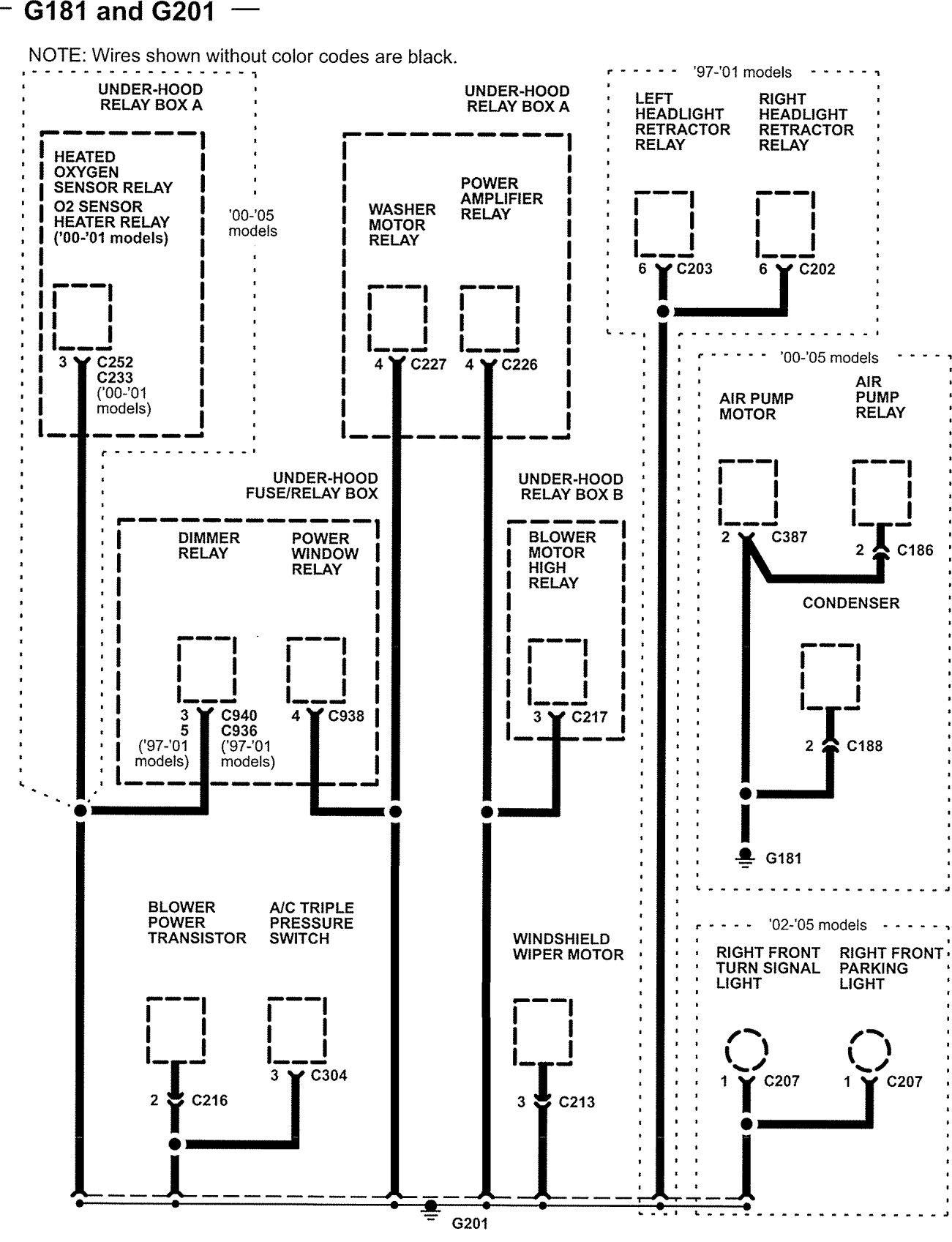 acura nsx  2005  - wiring diagrams