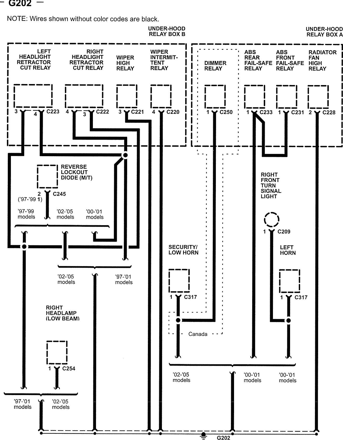 Acura NSX (2005) - wiring diagrams - ground distribution ... on