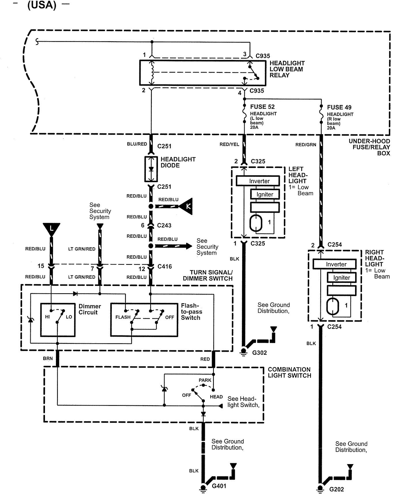 Acura Nsx 2005 Wiring Diagrams Headlamps Carknowledge Diagram