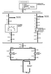 Acura NSX - wiring diagram - reverse lamp