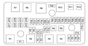 Buick Lucerne - wiring diagram - fuse box diagram - engine compartment