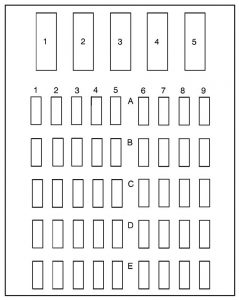 Buick Park Avenue - wiring diagram - fuse box diagram - left side fuse panel