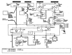 Mercedes-Benz 190E - wiring diagram - audible warning system (part 1)