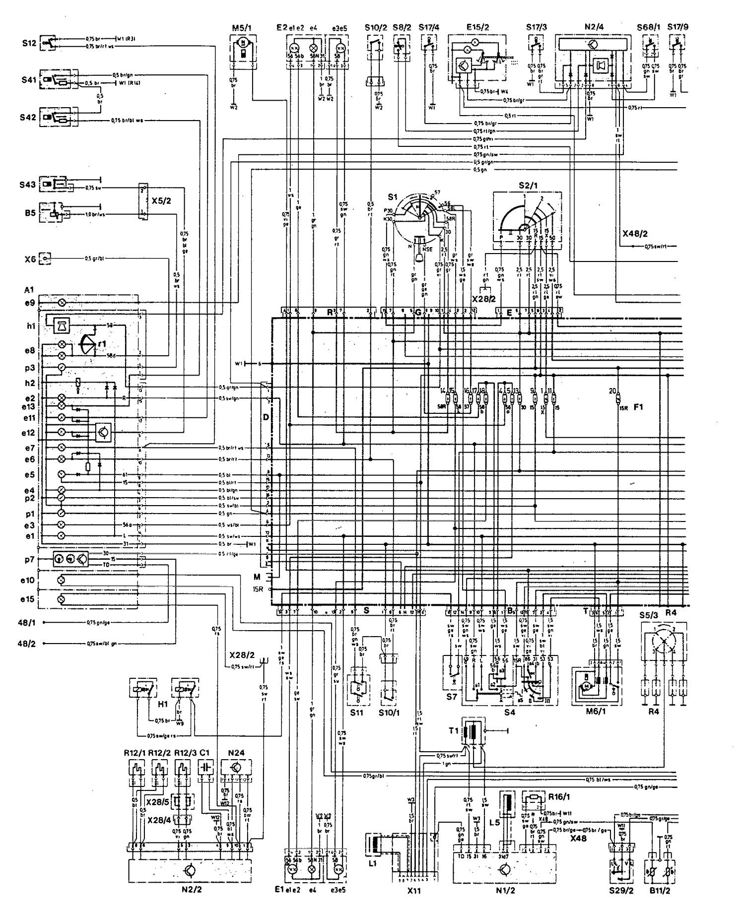 Mercedes 190E 1992 wiring diagrams cooling fans