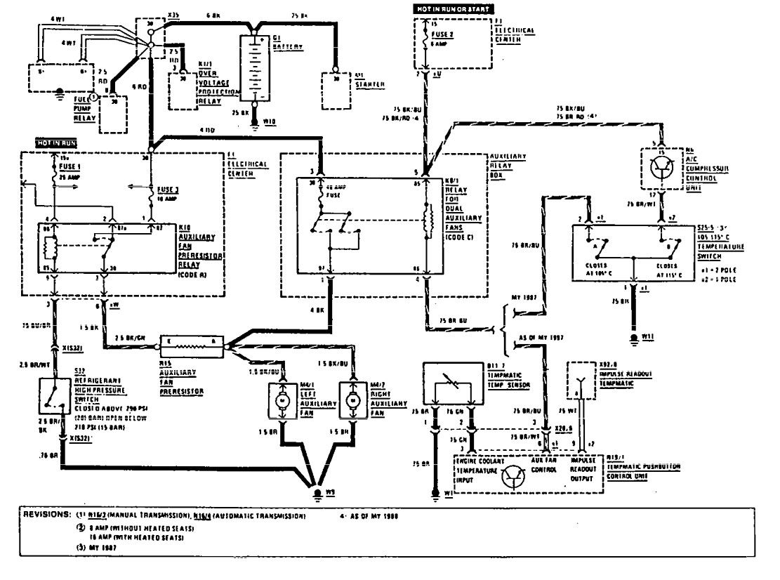 Cooling Components Electric Fan Wiring Diagram Schematic Diagrams Ribu1c Relay Mercedes Smart U2022