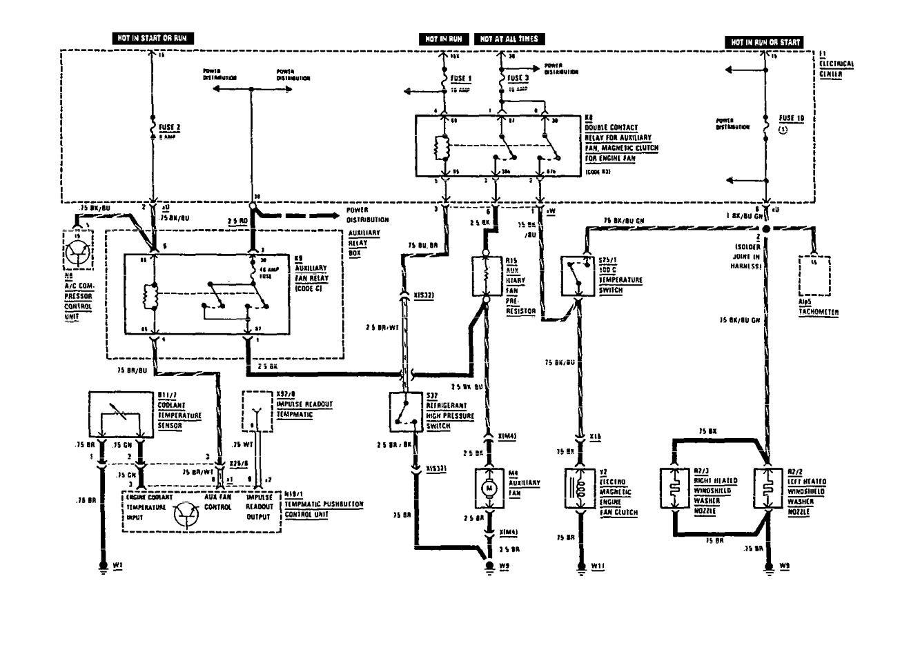 Mercedes Benz 190e 1991 Wiring Diagrams Cooling Fans Diagram