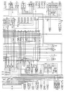 Mercedes Benz 190E -  wiring diagram - cooling fans (part 2)