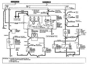 Mercedes-Benz 190E -  wiring diagram - courtesy lamps