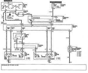 Mercedes-Benz 190E -  wiring diagram - fog lamps
