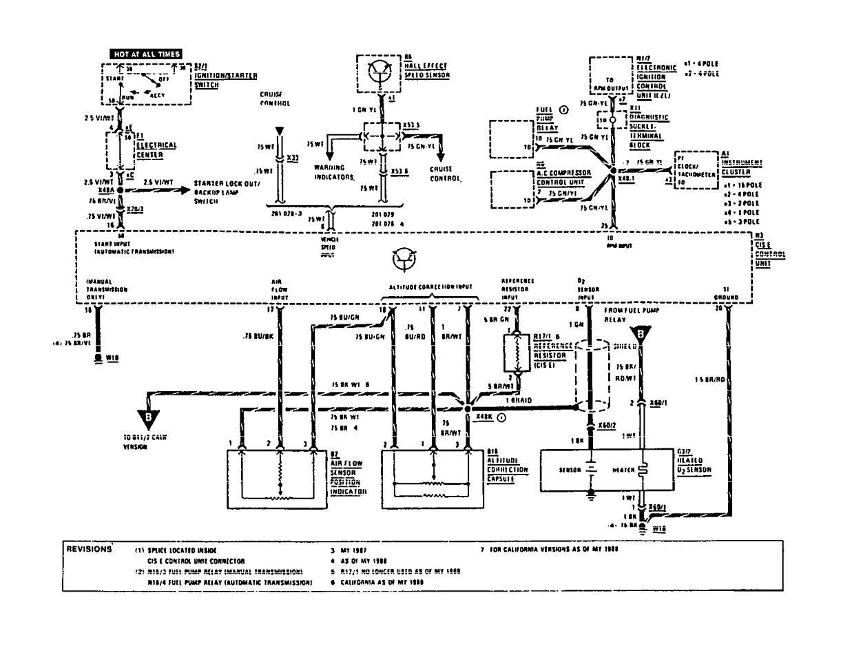 Mercedes Benz 190e 1991 Wiring Diagrams Fuel Controls Diagram