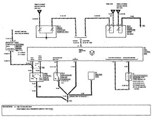 Mercedes-Benz 190E - wiring diagram - fuel controls (part 2)