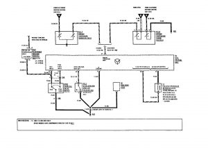 Mercedes-Benz 190E - wiring diagram - fuel controls (part 2)