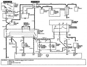 Mercedes-Benz 190E - wiring diagram - fuel controls (part 3)