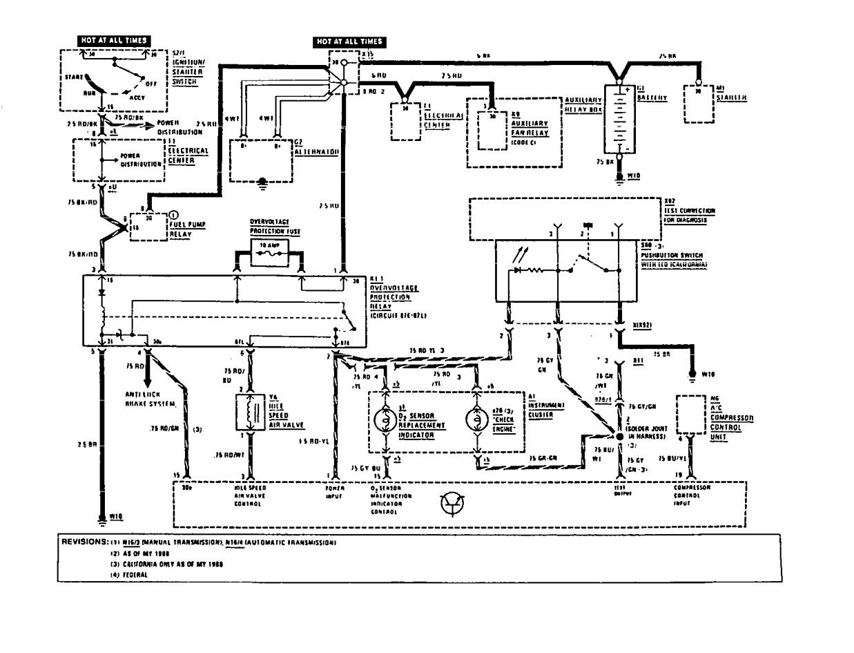 Mercedes Benz 190e 1991 Wiring Diagrams Fuel Controls Diagram