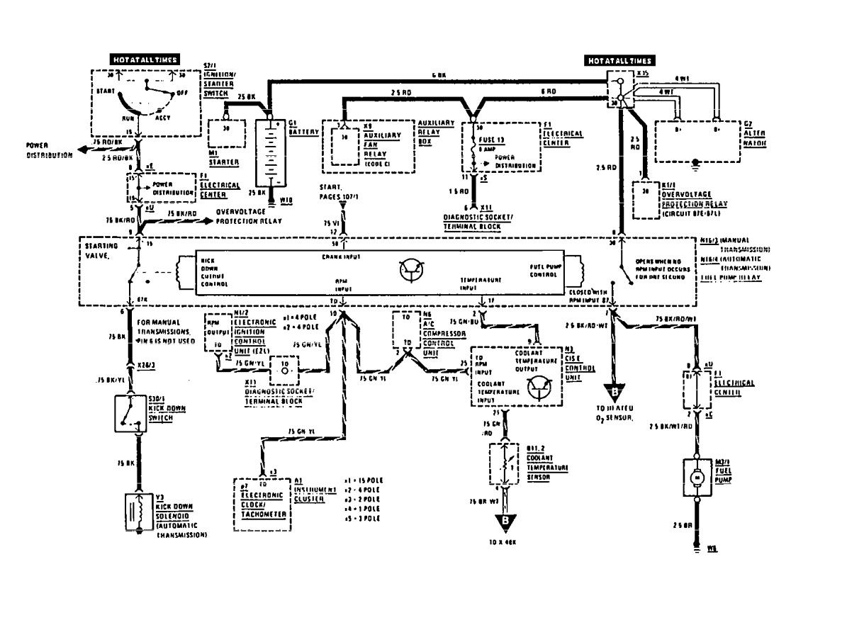Mercedes Benz 190e 1991 Wiring Diagrams Fuel Controls Diagram For