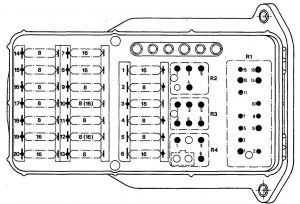 Mercedes-Benz 190E - wiring diagram - fuse panel