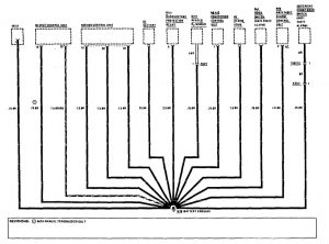 Mercedes-Benz 190E - wiring diagram - ground distribution (part 10)