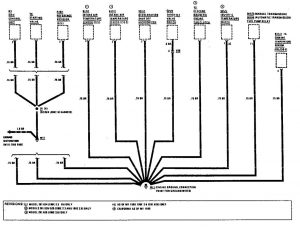 Mercedes-Benz 190E - wiring diagram - ground distribution (part 11)